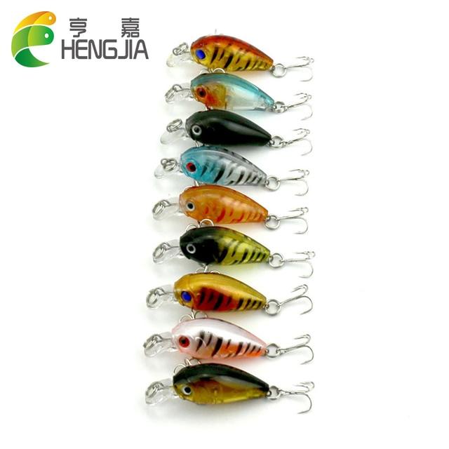 HENGJIA 18pcs 4.5CM 4G mini crankbaits fishing lures wobbler pike bass trout catfish fishing baits pesca fishing tackles