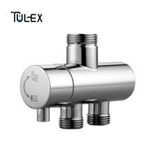 TULEX Shower Faucet Diverter 3 Way Shower Arm Diverter 2 Functions Faucet Valve for Shower Mixer Brass Body Chrome Plated стоимость