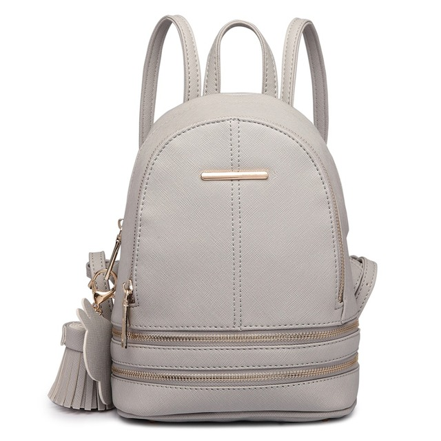 Miss Lulu Women Leather Backpack School Bags
