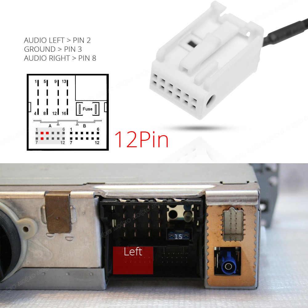 Atocoto Car Bluetooth Aux Receiver Adapter 12 Pin Cable For Bmw E60 E61 E63 E64 X3 Z4 Radio Navi Wireless A2dp Audio Input