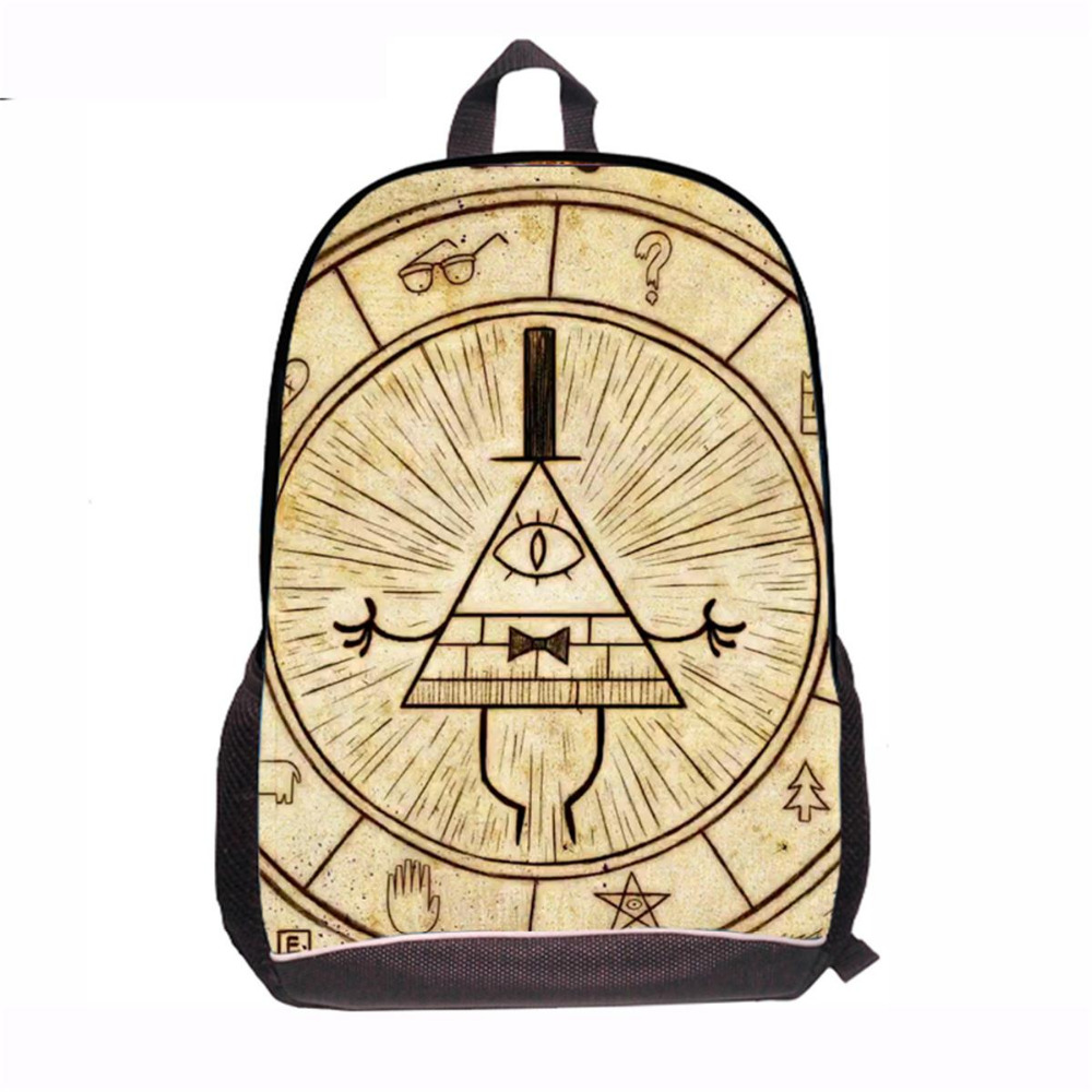 Children Anime Gravity Falls Backpack Boys Girls Cartoon Adventure Time Backpacks Kids School Bags Bookbag Daily Backpacks Mabel