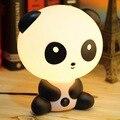1 unids bastante Lindo Panda animal de la Historieta luz de la noche, Niños Escritorio Cama Lámpara de mesa de Noche de Dormir lámpara de noche led Chrismas Regalo Caliente venta