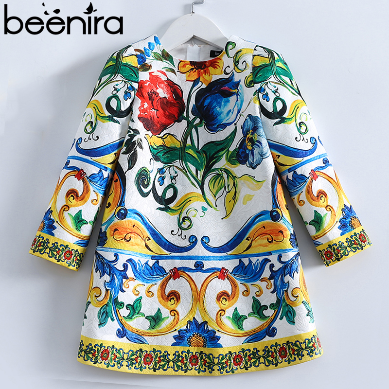 Beenira Children Long-Sleeve Dress Kids European And American Style Baby Pattern Princess Dress For 4-14Y Girls Winter DressBeenira Children Long-Sleeve Dress Kids European And American Style Baby Pattern Princess Dress For 4-14Y Girls Winter Dress