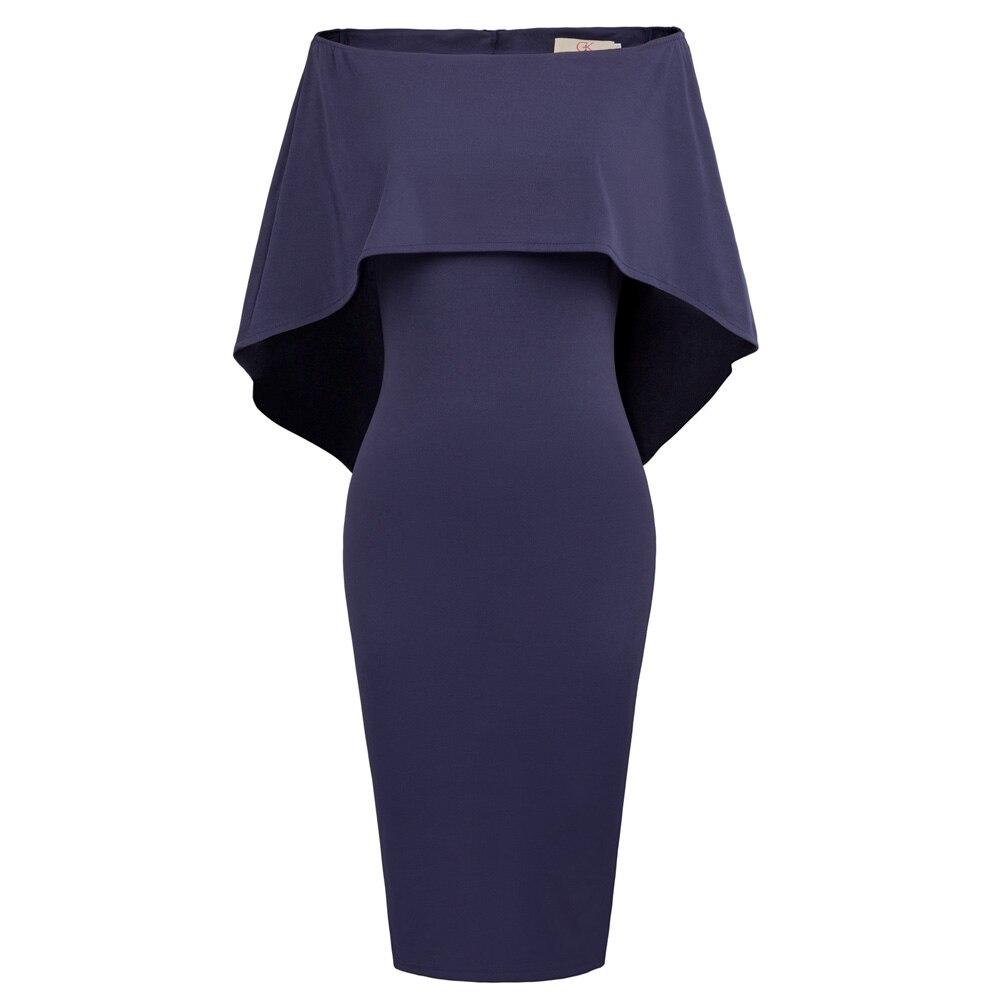 Grace Karin vestido de noche corto capa drapeado túnica formal ...