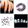 300pcs Crystal Glitter Rhinestones Gel Nail Art Polish Decorations Black 3D Nail Design Beads Forms On Nails All For a manicure