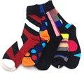 De alta Calidad de Algodón Peinado Hombres Calcetines de Marca, Vestido de Colores Harajuku Calcetines de Negocios (5 par/lote) Ninguna Caja de Regalo