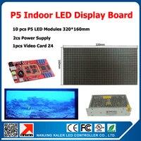 P5 светодиодный дисплей комплекты 10 шт. полный цвет SMD 3in1 модуль + 1 Асинхронный контроллер + 2 источник питания P5 indoor светодиодный экран компле
