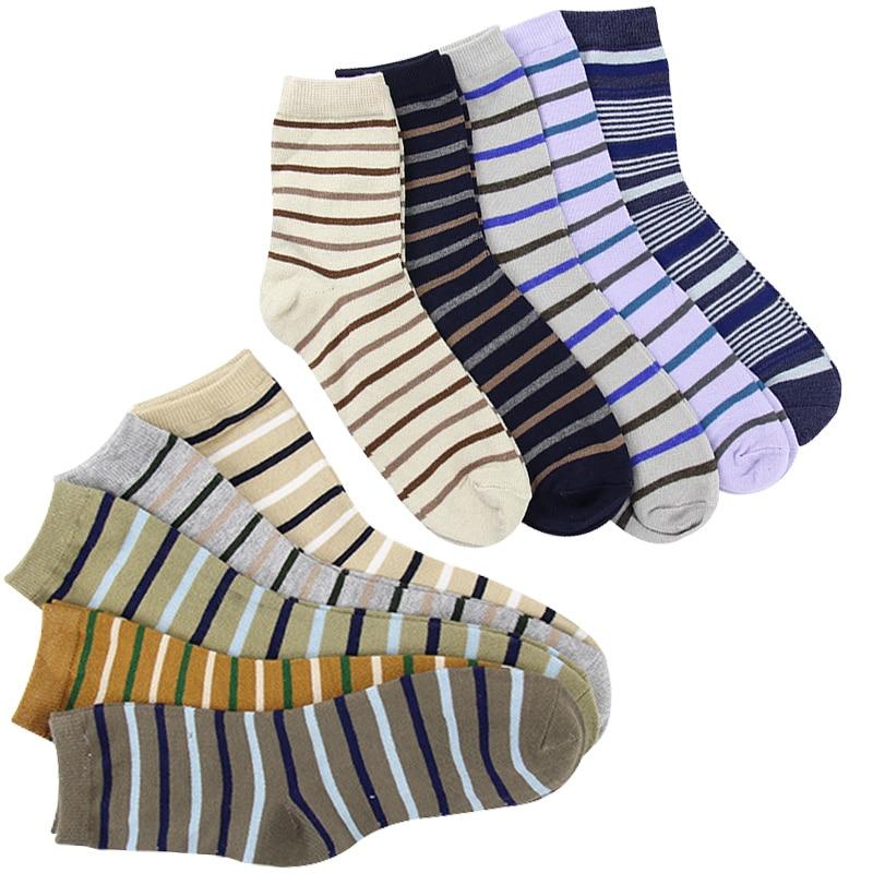 5 Pairs Men Cotton Socks Spring Summer Autumn Short Ankle Breathable Deodorant Men Sock Popular Striped Casual Funny Socks Meias