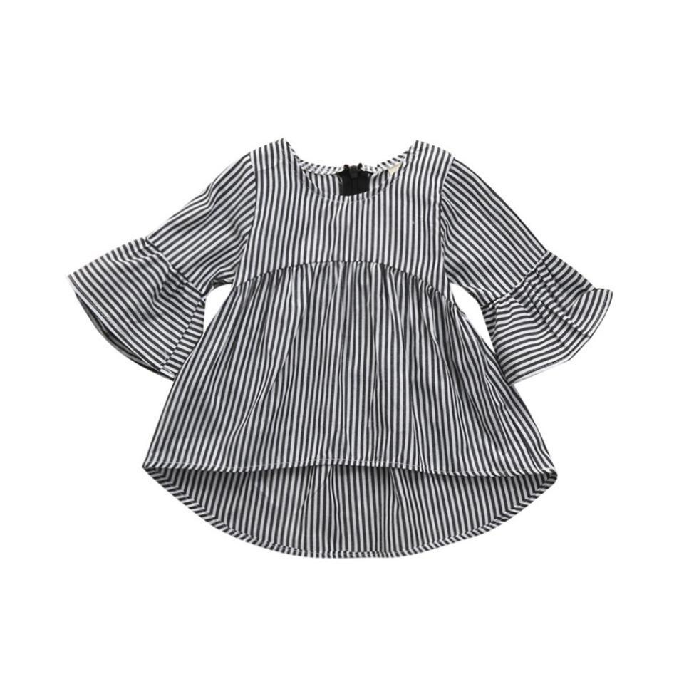 MUQGEW Baby Girls princess dress roupas infantis menina Toddler Kids Clothes Stripe Princess Tops Outfits baby dress dresses