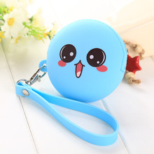 Cute Cartoon Wallet Coin Key Candy Mini Purse For Change Hand Clutches  Silicone Round Creative Female Wallets