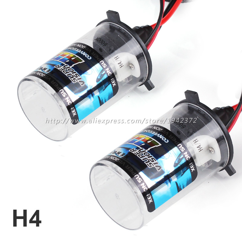 H4 HID Xenon Lamp Car Headlight 2PCS 12V 35W 3000K 4300K 6000K 8000K 10000K Auto Bulb for All Cars Car Styling