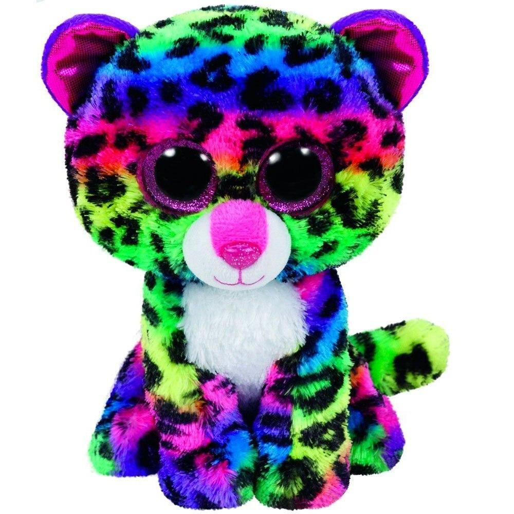 2354f7f90ab Ty Beanie Boos Dotty Multicolor Leopard 6inch Big Eyes Beanie Baby Plush  Stuffed Doll Toy Collectible Soft Big Eyes Toys
