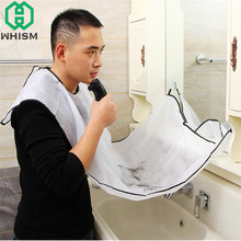 WHISM Suction Cup Apron Waterproof Pongee Beard Care Bib Facial Hair Cape Sink Shave Trimmer Storage Rack Bathroom Accessories
