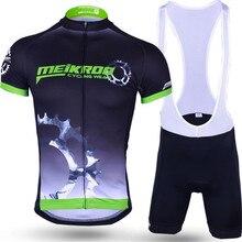 DICHSKI Велоспорт с коротким рукавом наборы летние велосипедные наборы для мужчин Высокое качество дышащий анти-УФ Велоспорт Джерси+ нагрудник шорты гель Pa