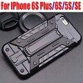 10 pçs/lote para iphone6 case neo hybrid armadura ironman com armazenamento de cartão de moda tpu + pc capa case para iphone 6 s plus se 5S ip649