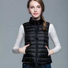 90% White Duck Down Vest Women Autumn Winter Ultra Light Duck Down