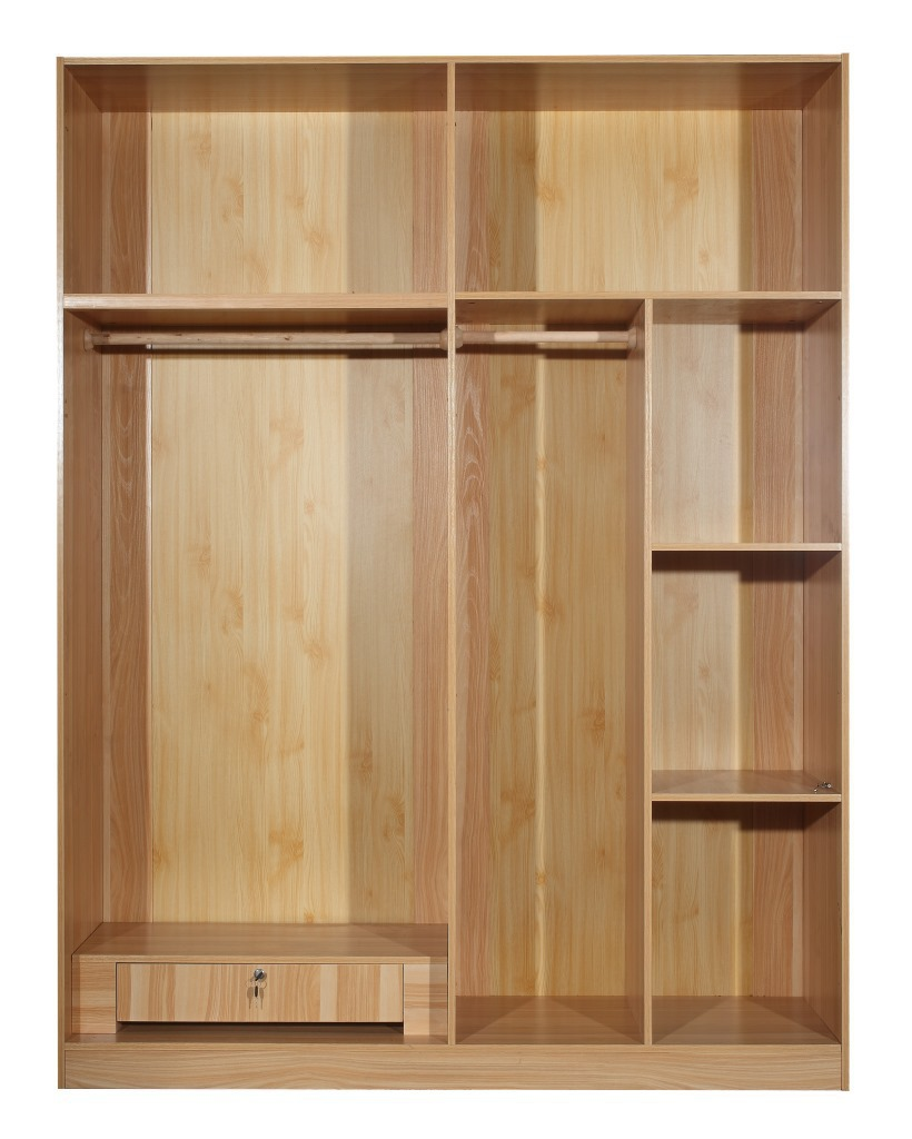 Plate Furniture minimalist sliding door wardrobe assembled three ...