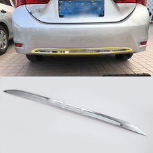 Car body kits ABS chrome rear bar trims cover Car Sticker For TOYOTA COROLLA 2017 car body kits front foglight trims car sticker for honda civic 2017 abs chrome
