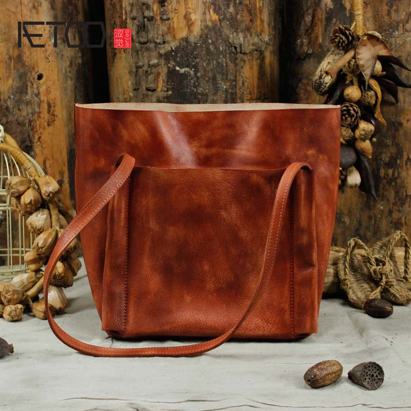 AETOO Original new handmade first layer leather bag Messenger bag shoulder leather buckle retro bag packet aetoo original new handmade first layer leather bag messenger bag shoulder leather buckle retro bag packet