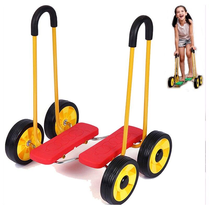 цена на New Child Walking Assistant Treadmill Car Balance Scooter Bike Kids Walker Play Treadwheel Baby Children Walker with Wheels