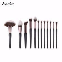 1bc81c326 ENNKE nuevo listado 12 unids/set Maquillaje pluma llama ángulo Fan sombra  cejas Pro pinceles Set Kits Brochas Maquillaje Sets