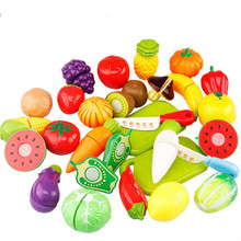ZXZ 13Pcs Plastic Kitchen Food Fruit Vegetable Cutting Toys Kids Pretend Play Educational Kitchen Toys set Cook Cosplay Children baby toys simulation vegetable fruit seafood wooden toys for kids cut set prentend play large food set educational birthday gift