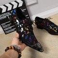 Men Oxfords Lace Up Business Brogues Shoes Men Flats New High Quality Genuine Leather Men Dress Shoes Multicolor Plus Size 38-46