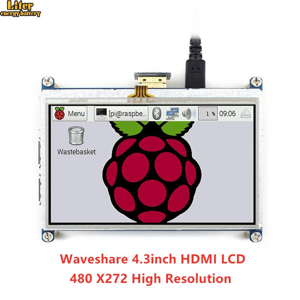 Tablette résistive d'écran tactile d'affichage à cristaux liquides de 4.3 pouces HDMI 480*272 conçue pour toute la framboise Pi, avec le contrôle de rétro-éclairage