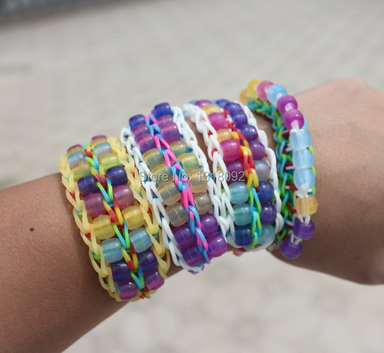 100pack Dhl Free Shipping Colorful Loom Rubber Band Uv Ray