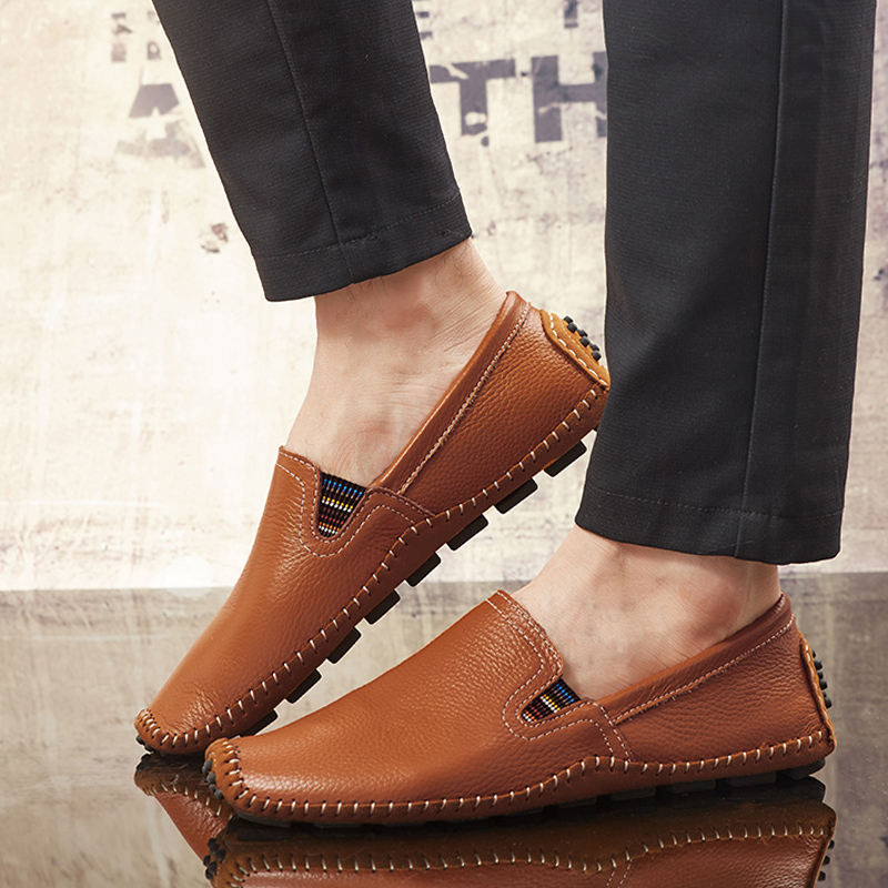 2019 Men Shoes   Leather   Mens Loafers Shoes Soft Men Flats Comfort Driving Shoes moccasins   suede     leather   casual shoes Moccasins