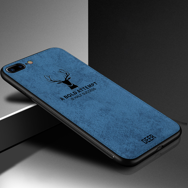 Case For iPhone Deer Cloth Texture Soft Back Cover 2