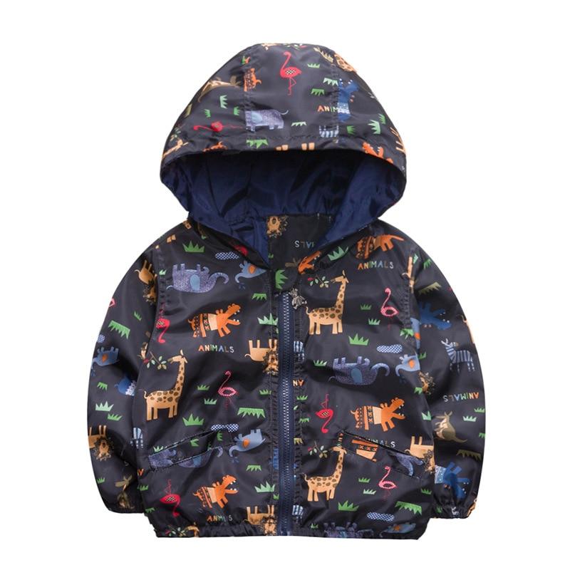 Roupas 2019 modelos Primavera e Outono da menina do menino das crianças do doodle das crianças jaqueta casaco jaqueta com capuz 2-4 anos de roupas de bebê