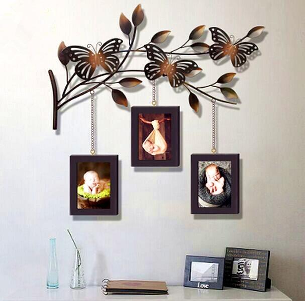 Modern Home Decoration Metal Wall Art Hand Made Butterfly