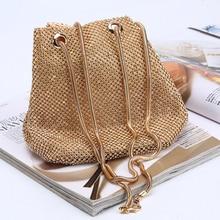 New Fashion Barrels Personalized Womens Luxury Handbags Bucket Bag Ladies Clutch Hand Bags Diamond-Studded Evening