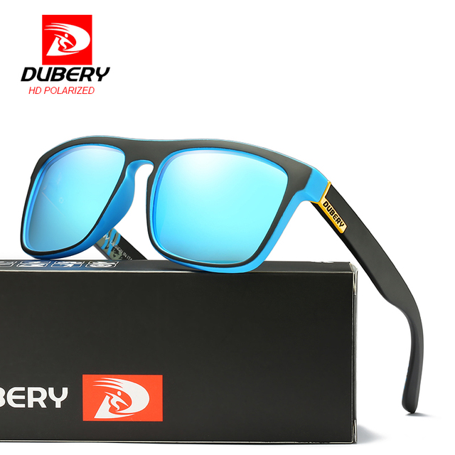 f38fcb573e DUBERY Marca Diseño polarizado gafas de sol hombres conducción sombras  Vintage Hombre gafas de sol para
