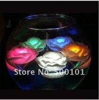 100 cái/lốc-color flash Đã Tăng Đèn Đêm candle LED Ánh Sáng hoa gradient sinh nhật lãng mạn wedding gift Xmas miễn phí vận chuyển