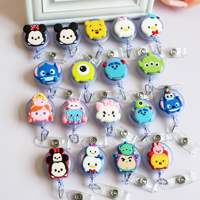 1Pcs Cartoon Retractable Badge Reel Student Nurse Exihibiton ID Name Card Badge Holder  Hospital School Offic