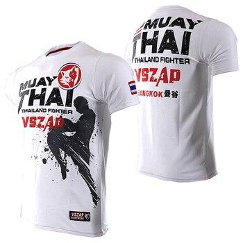 T-Shirt Hommes Combat Muay Thai radiodiffusion