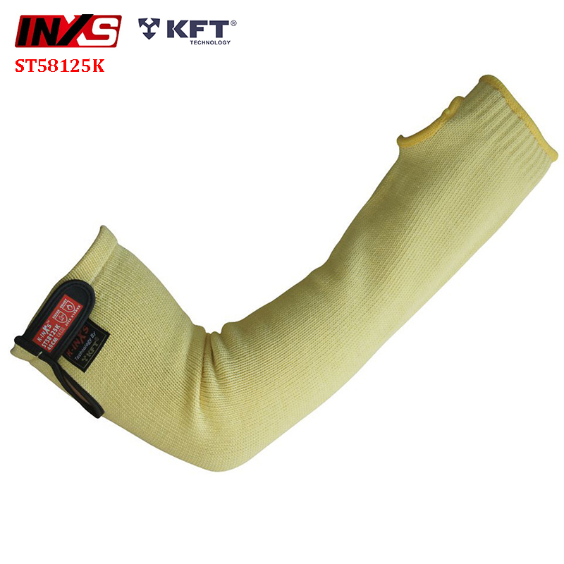 SAFETY-INXS 450mm Cut Protection Sleeve Heat Resistant 100 Degree Anti Cut Sleeves EN 388 Level 5 Cut-proof Safety Sleeve