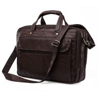 High Quality Real Genuine Leather Men Messenger Bags Briefcase Portfolio15 6 Inch Laptop Bags Business Travel