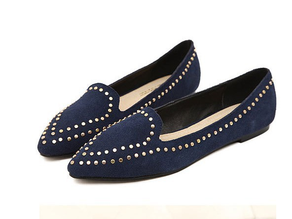 a7bb6266543 New 2014 Women genuine Leather Pointed Toe Leopard Flat Shoes Comfort Anti  skid Slip On Woman Shoes-in Women s Flats from Shoes on Aliexpress.com