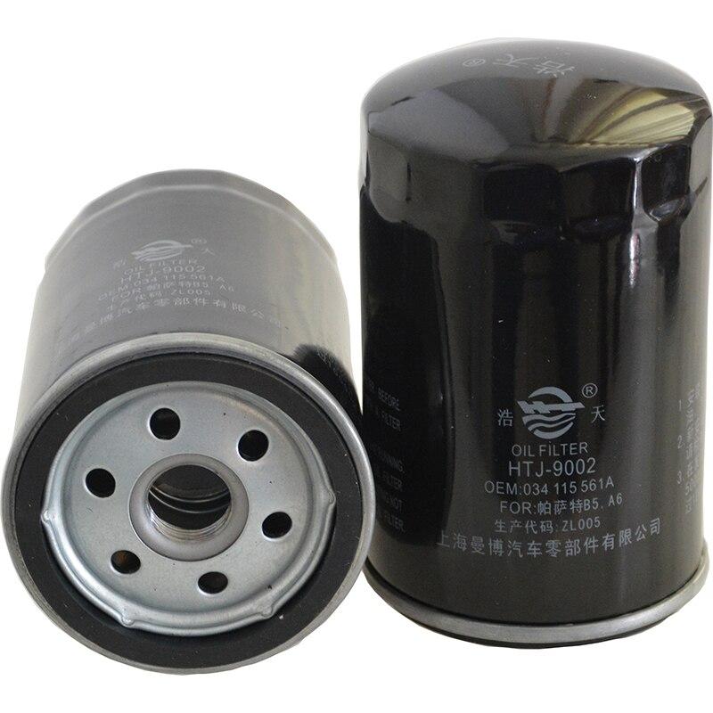 Coche filtro de aceite para VW Bora Golf Audi A6 Passat POIO Lavida 2,0 Octavia 2,0 Jetta 3 Touran VENTO transportador 034115561A