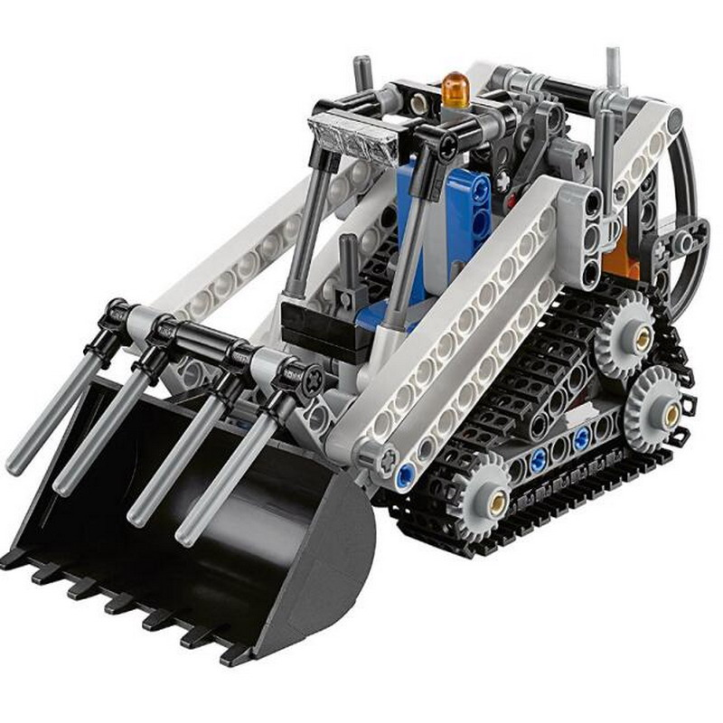 LELE Technic City Series 2 IN 1 Compact Tracked Loader Model Building Blocks Enlighten Figure Toys For Children Compatible Legoe lepin city town city square building blocks sets bricks kids model kids toys for children marvel compatible legoe