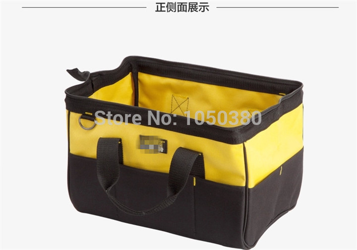 Подробнее о 16 inch heavy duty shoulder bag waterproof Portable Multi-purpose hand Bag Double-sided Tote Bucket Organizer Black Yellow heavy weight duty waterproof oxford cloth multifunctional canvas tool bag 12 13 16 adjustable strap black yellow blue bags