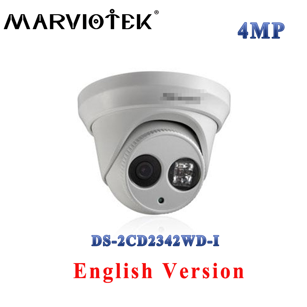 DS-2CD2342WD-I 4MP English version WDR EXIR Turret Network Camera 120dB p2p H.264+ POE replace DS-2CD2332-I security camera