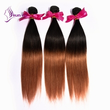KUNNA ombre brazilian human hair unprocessed virgin hair straight omber human hair weave 50g in stock 1 bundles