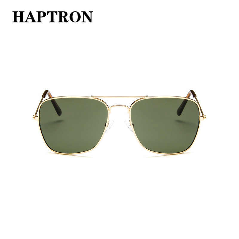 9cf3c1a6ab6f HAPTRON Luxury Men Sunglasses Brand Vintage Driving Glasses Women Sun Glasses  Green Square Mirror Retro oculos