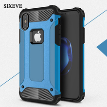 Phone Case For iPhone 7 8 6 6S Plus X 5 5S SE 10 SIXEVE Heavy Armor Protection Rubber Shockproof Ultra-thin Back Cover Shell цена
