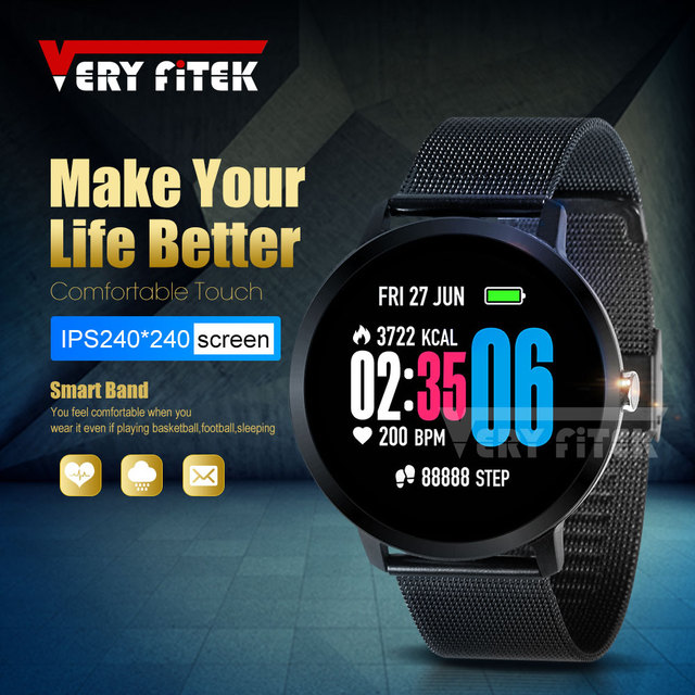 VERYFiTEK V11 Heart Rate Monitor Smart Watch Blood Pressure Oxygen SmartWatch IP67 Pedometer Men Women Sport Fitness Watches