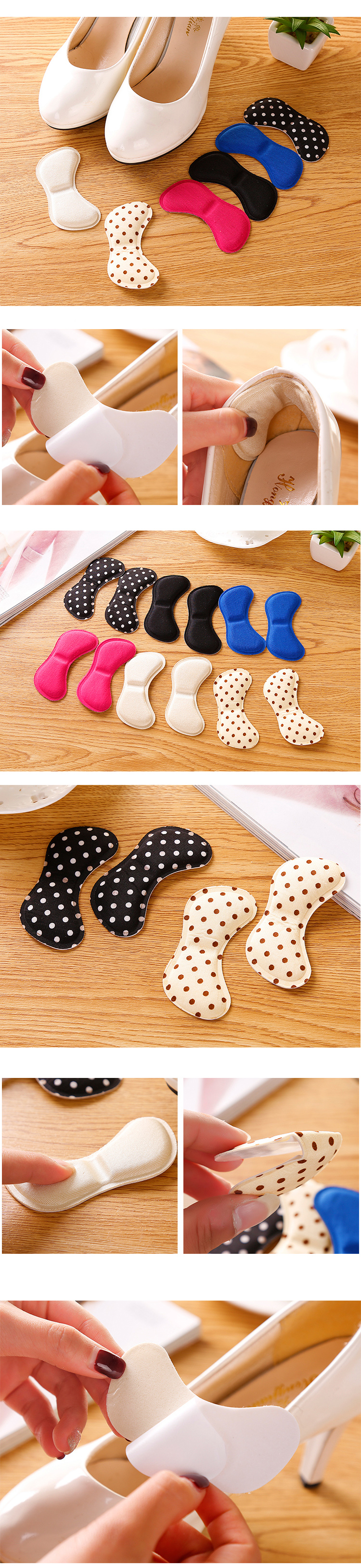 Soft Foam Half Soles Insoles Shoes Back Inserts Heel Liner Cushion Protector Foot Care Shoe Pads Grips Stickers (8)